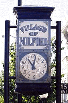 The Milford Michigan Village Clock